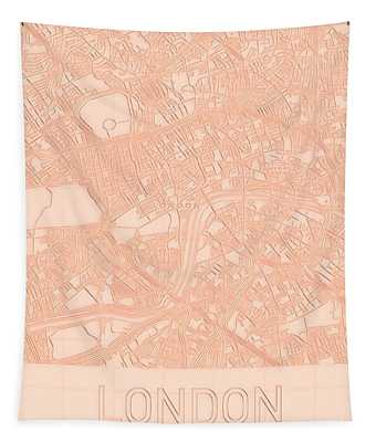 London Blueprint City Map Tapestry