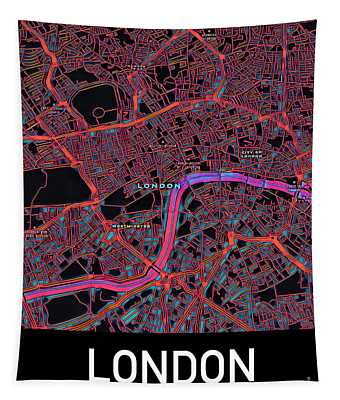 London City Map Tapestry