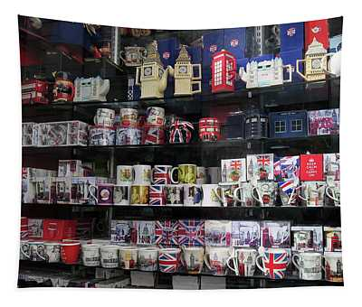 London England Shop Window Tapestry
