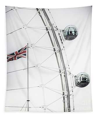 London Eye And Union Jack Tapestry