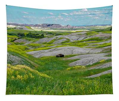 Lone Buffalo Tapestry