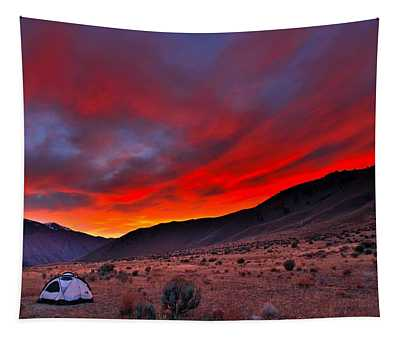 Lone Tent Tapestry