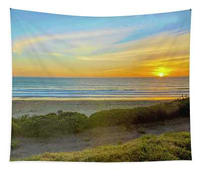 Lonely Beach Walk Pismo Beach Tapestry