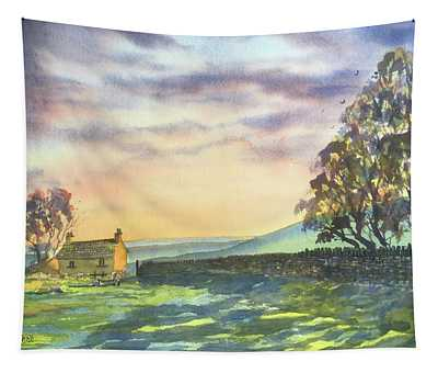 Long Shadows At Sunset Tapestry