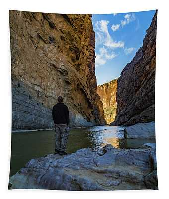 Looking Down The Canyon Tapestry
