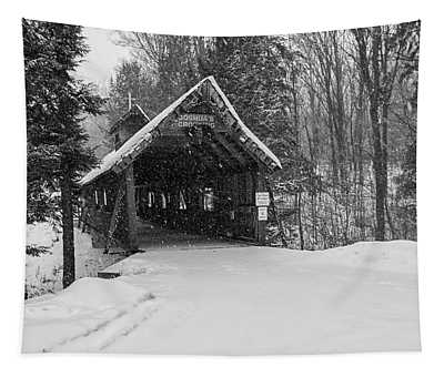 Loon Song Covered Bridge 3 Tapestry