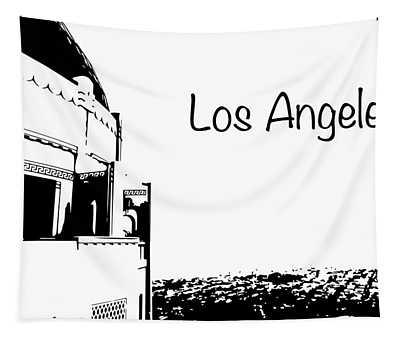 Los Angeles Silhouette Tapestry