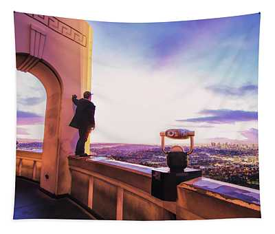 Los Angeles Skyline From Griffith Observatory Tapestry