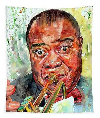 Louis Armstrong Portrait Painting Tapestry