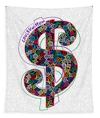 Louis Vuitton Dollar Sign-1 Tapestry
