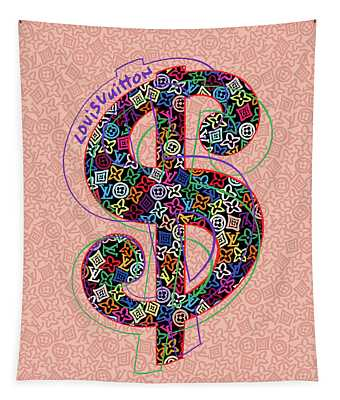 Louis Vuitton Dollar Sign-3 Tapestry