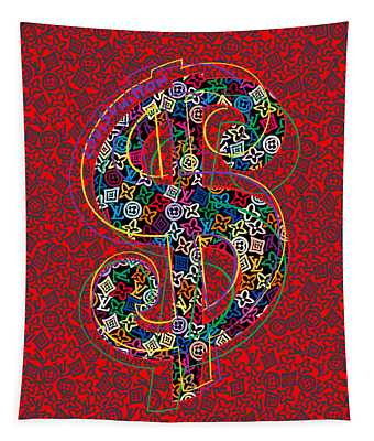 Louis Vuitton Dollar Sign-7 Tapestry