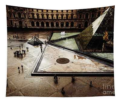 Tapestry featuring the photograph Louvre by Miles Whittingham
