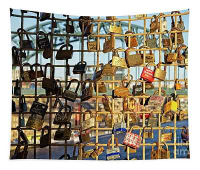 Love Locks Tapestry