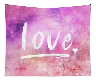 Love Watercolor In Pink Tapestry