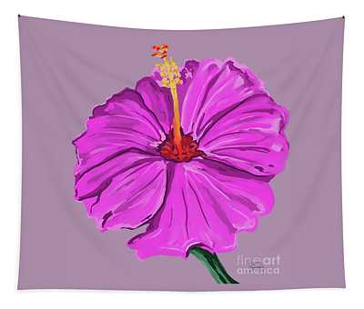Lovely Pink Hibiscus Tapestry