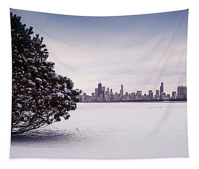 Lovely Winter Chicago Tapestry