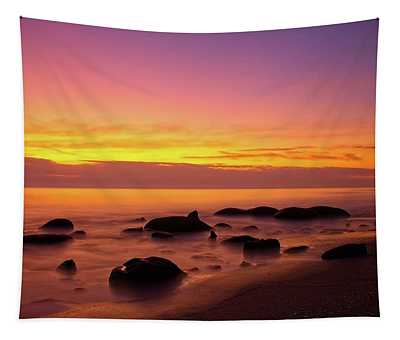 Low Tide Nautical Twilight Tapestry
