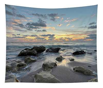 Low Tide Sunrise Tapestry