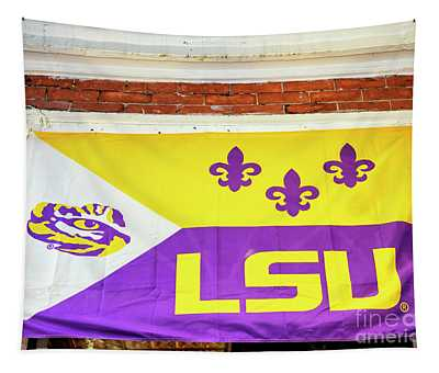 Lsu On Bourbon Street In New Orleans Tapestry