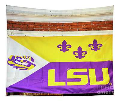 Lsu On Bourbon Street New Orleans Tapestry
