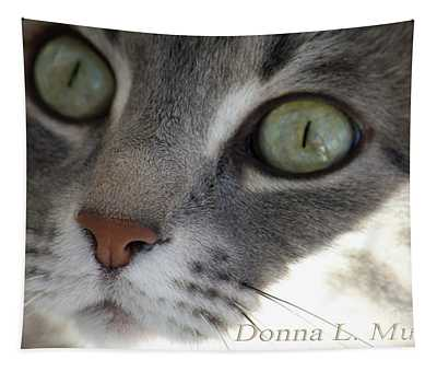 Lulu The Marble Gray Tabby Tapestry
