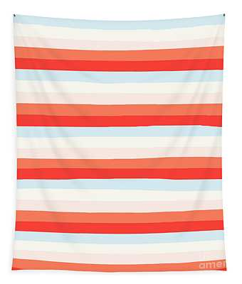 lumpy or bumpy lines abstract and colorful - QAB266 Tapestry