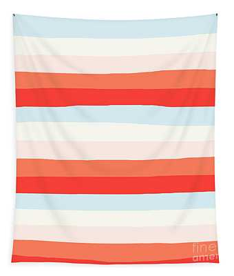 lumpy or bumpy lines abstract and colorful - QAB268 Tapestry