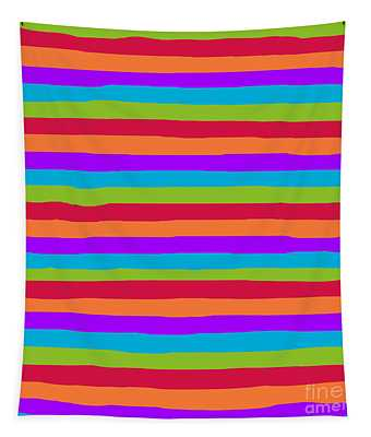 lumpy or bumpy lines abstract and summer colorful - QAB273 Tapestry