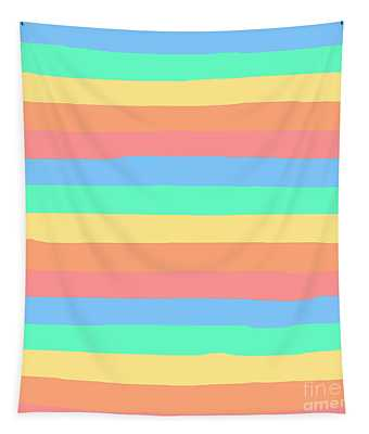 lumpy or bumpy lines abstract and summer colorful - QAB275 Tapestry