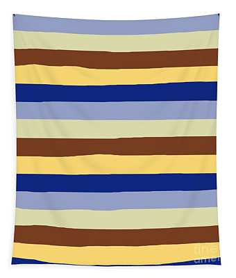 lumpy or bumpy lines abstract and summer colorful - QAB277 Tapestry
