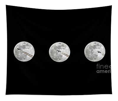 Lunar Silhouette In Sequence Tapestry