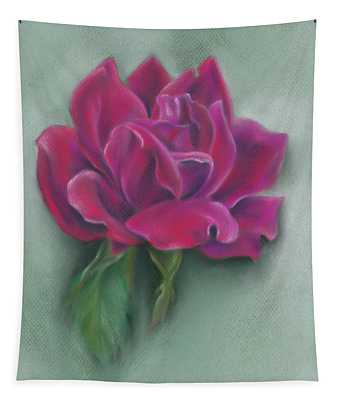Lush Red Rose Tapestry