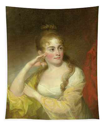 Portrait Of Lydia Leaming, 1806 Tapestry