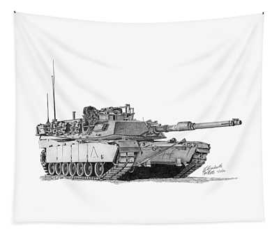 M1a1 A Company 1st Platoon Commander Tapestry