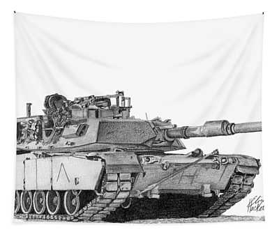 M1a1 A Company Commander Tank Tapestry