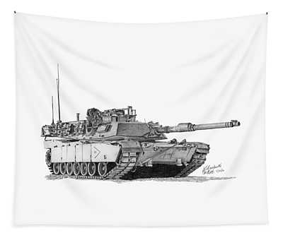 M1a1 B Company 2nd Platoon Tapestry