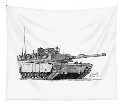 M1a1 B Company Commander Tank Tapestry