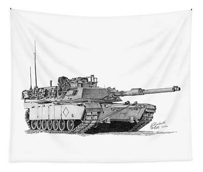 M1a1 Battalion Commander Tank Tapestry