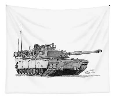 M1a1 C Company 3rd Platoon Commander Tapestry
