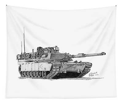 M1a1 D Company 1st Platoon Commander Tapestry