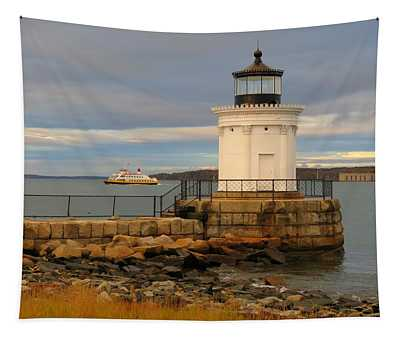 Machigonne Passes Bug Light Tapestry