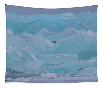 Mackinaw City Ice Formations 21618010 Tapestry
