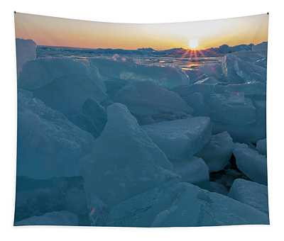 Mackinaw City Ice Formations 21618014 Tapestry