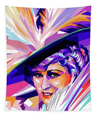 Mae West Pop Art Tapestry