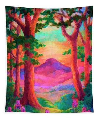 Magenta Morning Tapestry
