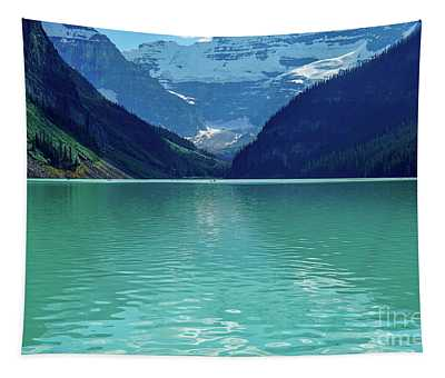 Magic At Lake Louise Tapestry