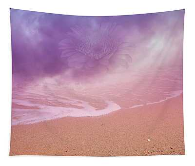 Magical Dust With Hazy Flower On Dreamland Beach  Tapestry