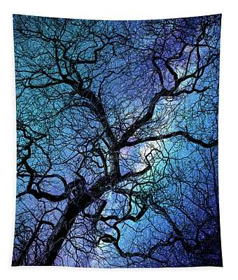 Magical Forest At Night Tapestry