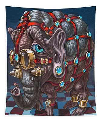 Magical Many-eyed Elephant Tapestry